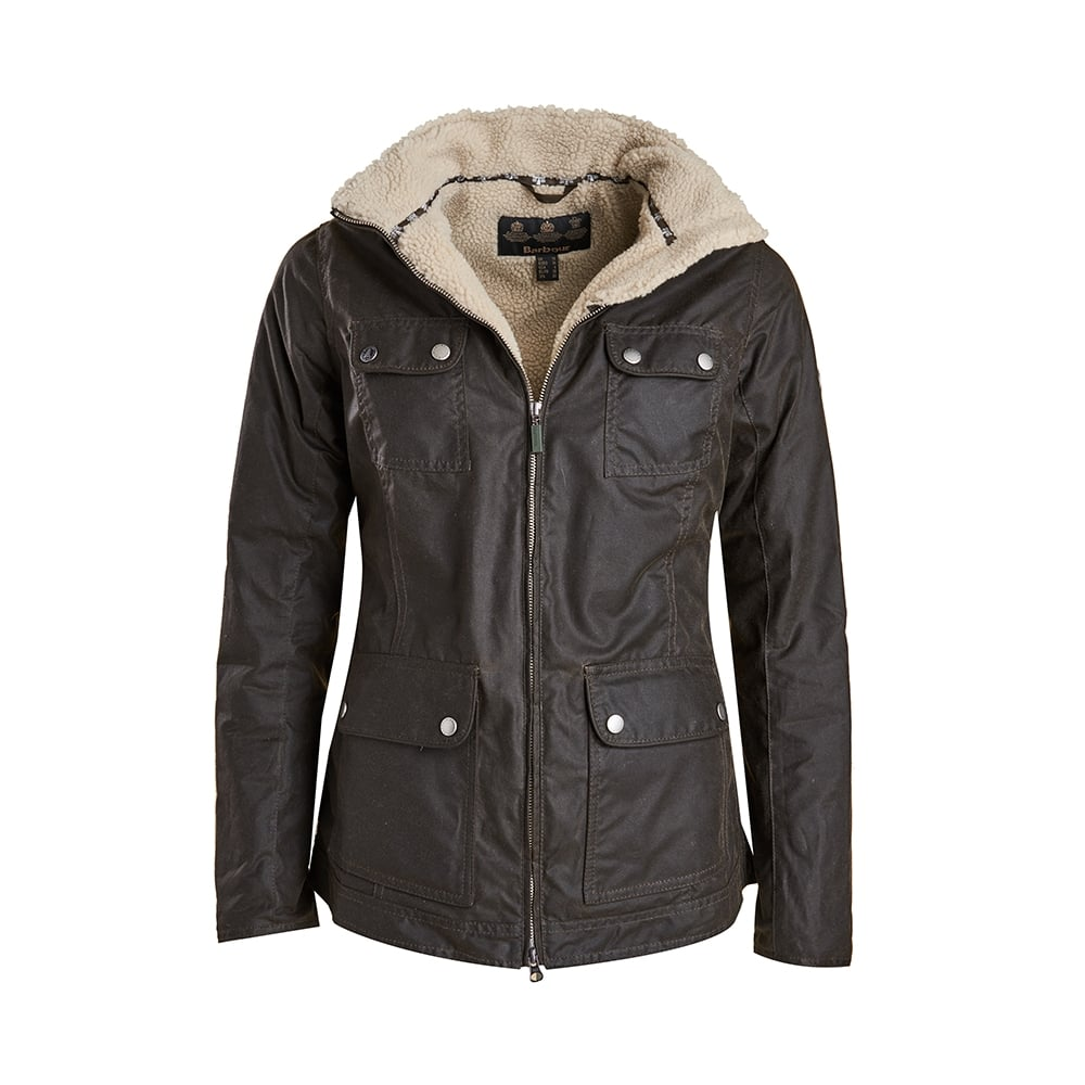 Barbour Howman Ladies Wax Jacket – Olive