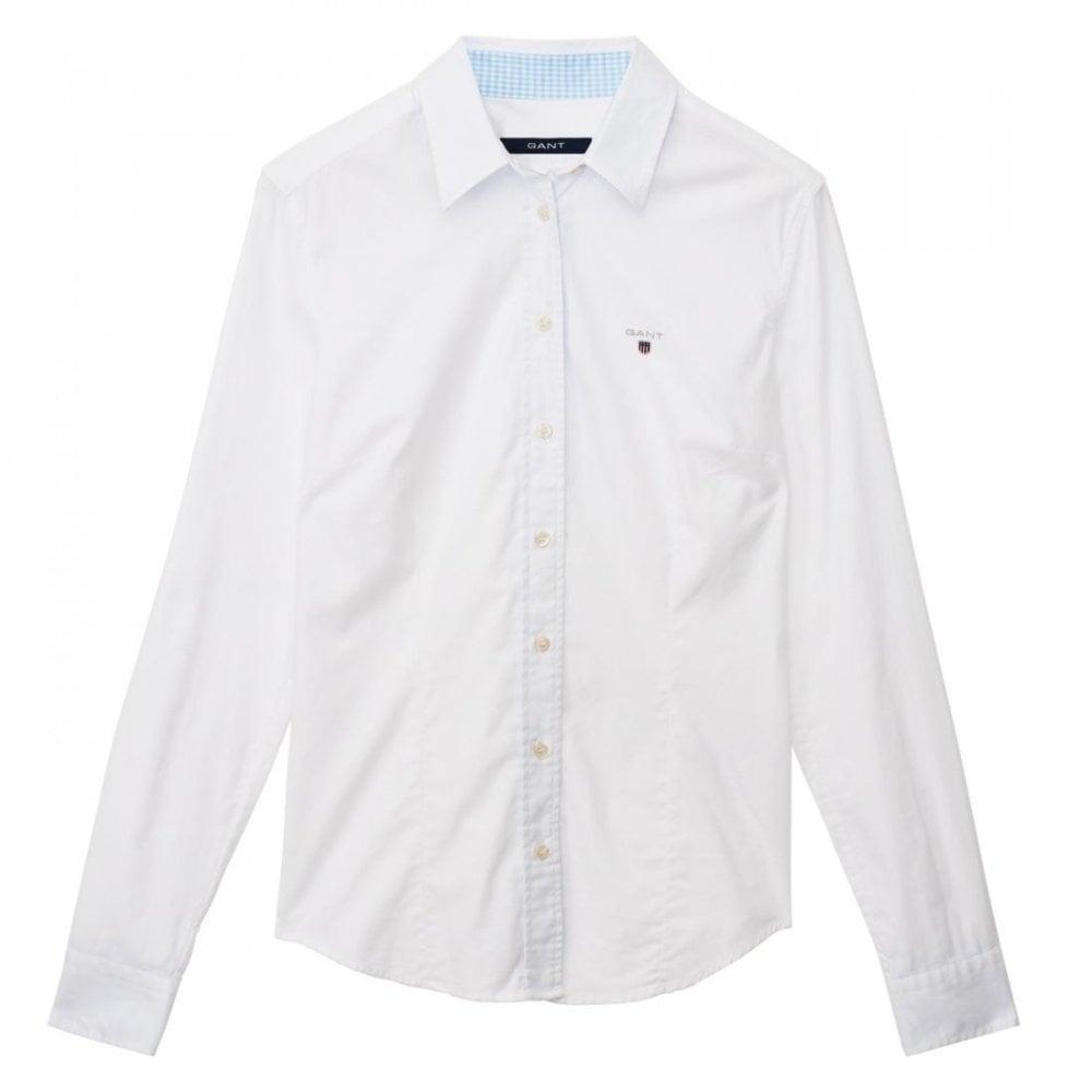 GANT Stretch Oxford Solid Ladies Shirt
