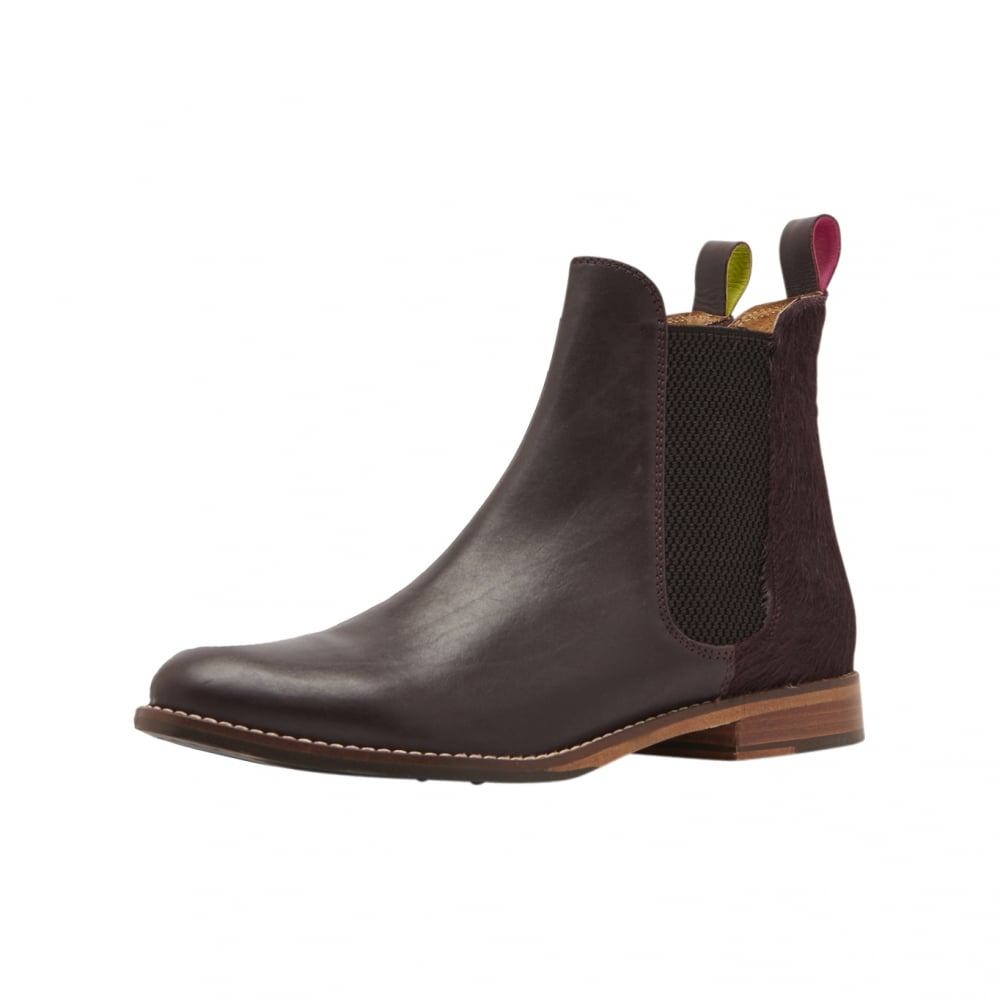 Joules Westbourne Leather Ladies Chelsea Boot (V) – Oxblood