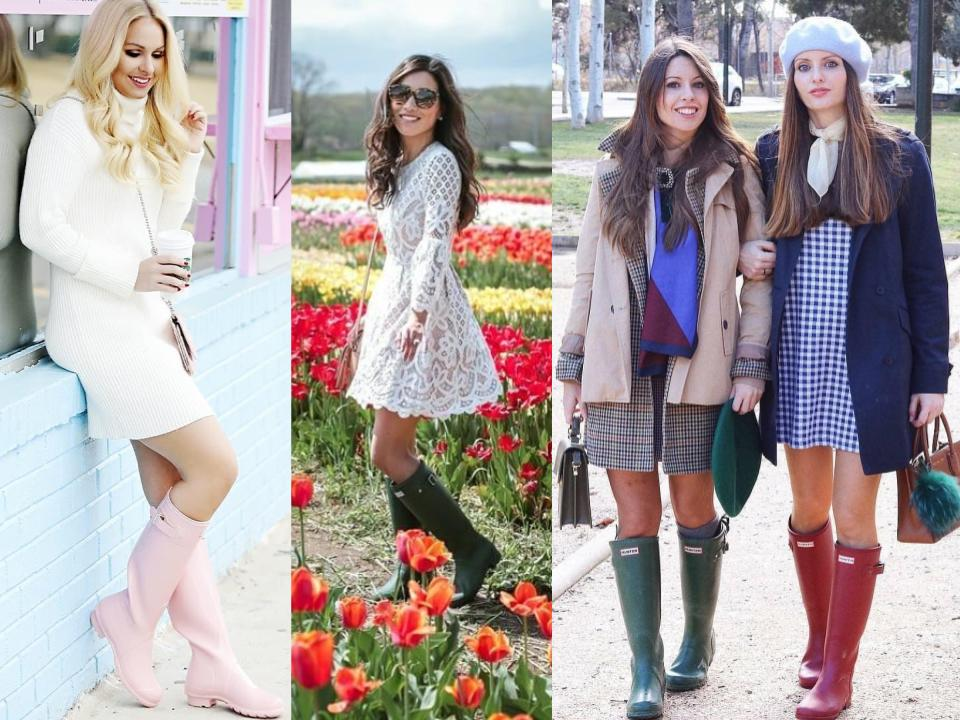 hunter wellies with dresses
