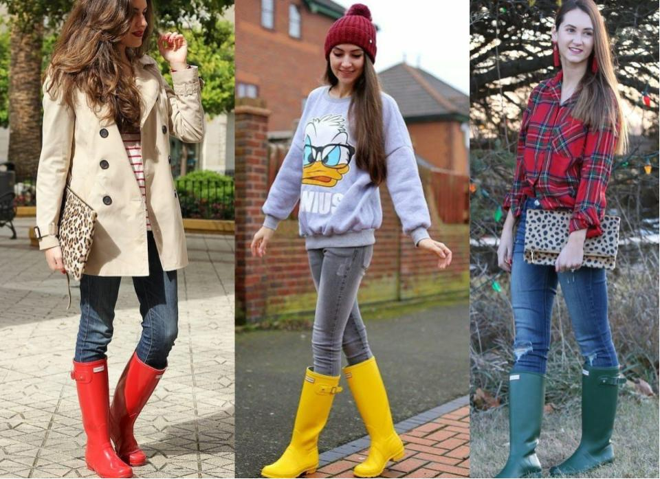 hunter wellies with jeans