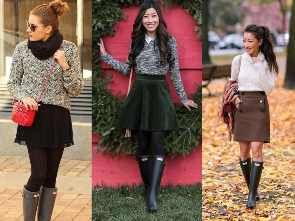 hunter wellies with skirts