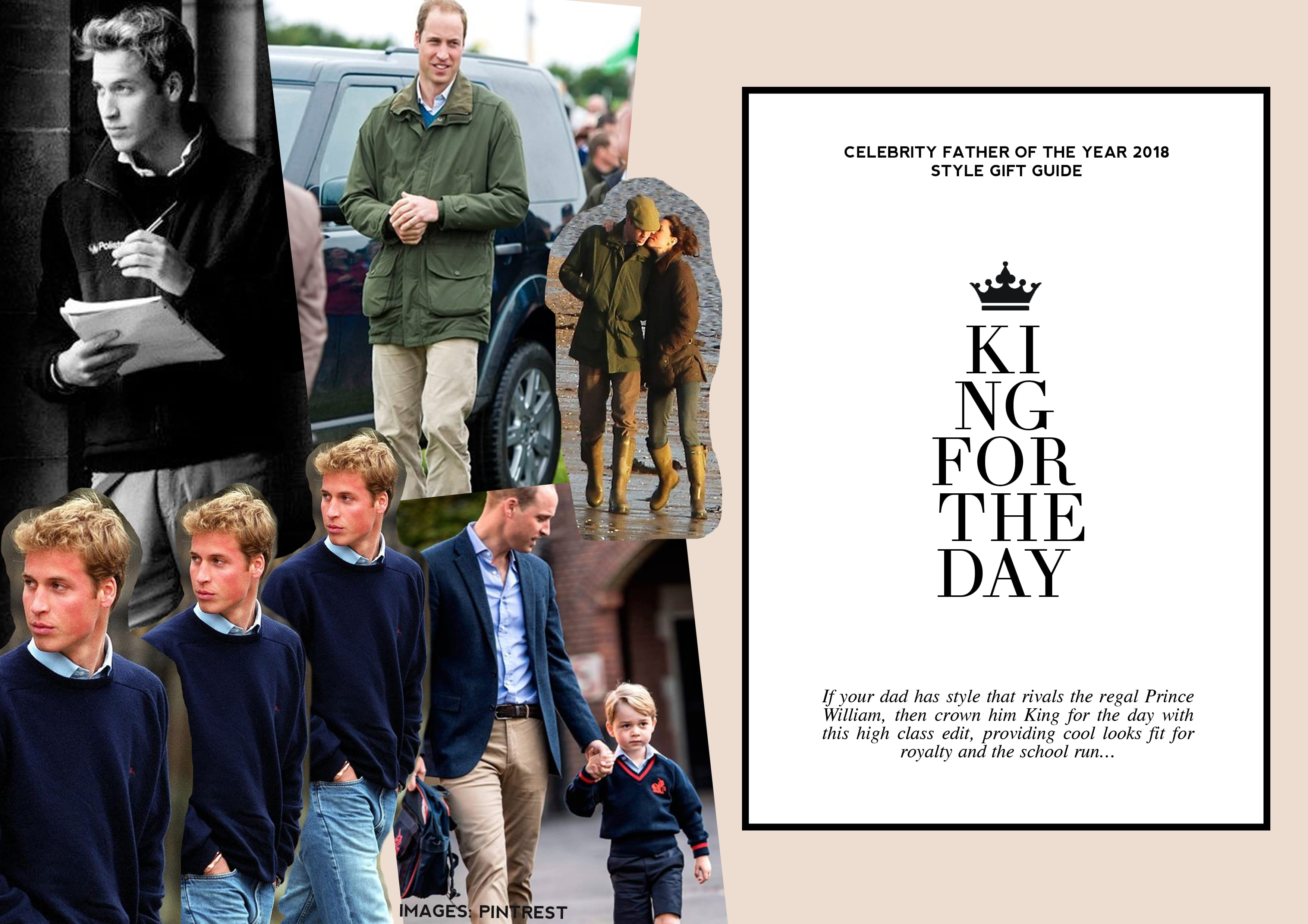 Father's Day 2018, gift guide, style guide, mens fashion, Prince William, Royals, Celebrity, Father of the Year, king for the day, Prince George, Kate Middleton