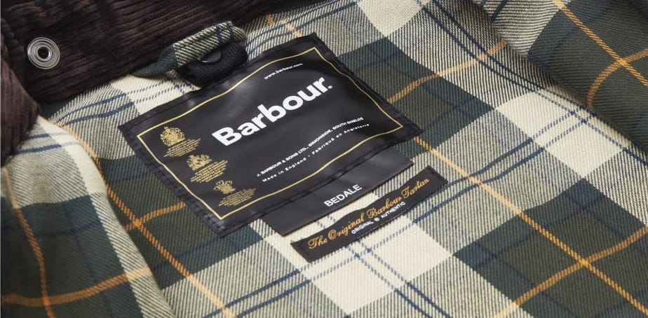 how to spot a fake barbour jacket check the label royal warrant