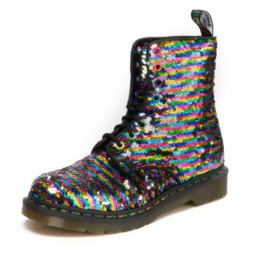 3153a034159df 8 Eye Boot 1460 Pascal Reversible Womens Sequin Boot · Dr Martens ...