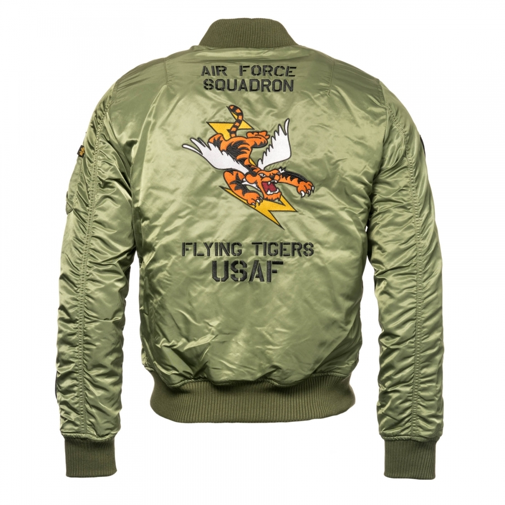c62bf7728 Alpha Industries Alpha Industries MA-1 VF Mens Flying Tigers Jacket