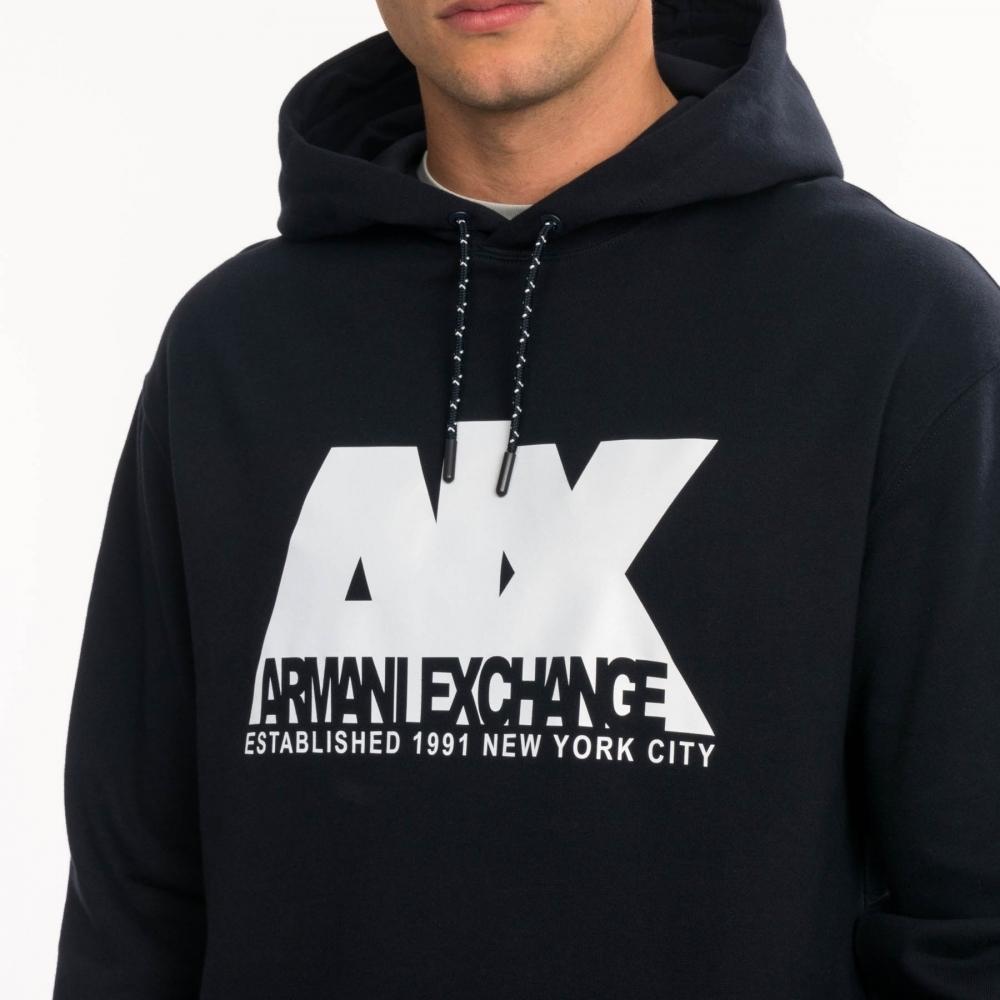size 40 dc07c 78249 Armani Exchange Armani Exchange Mens Felpa 6GZMGE
