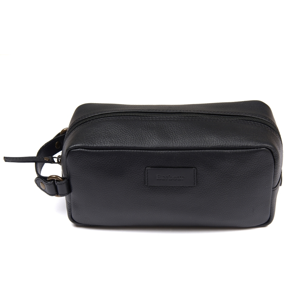 Barbour Compact Leather Wash Bag - Accessories from CHO Fashion and ... 255da7565dd68