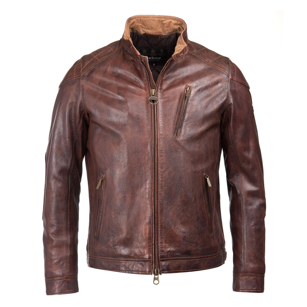 barbour leather