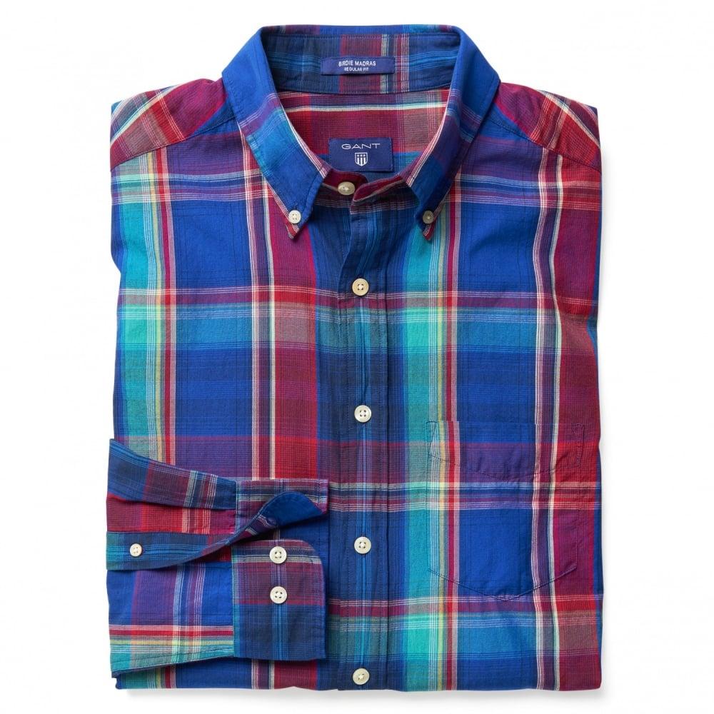 Gant birdie madras check mens shirt mens from cho for Mens madras shirt sale