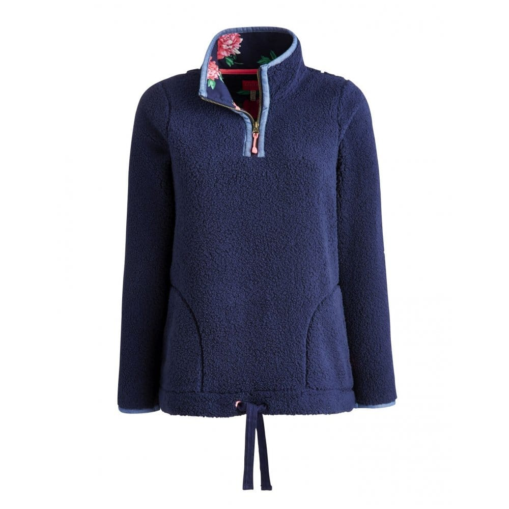 Joules Bonita Ladies Half Zip Fleece Sweatshirt (S) - Womens from ...