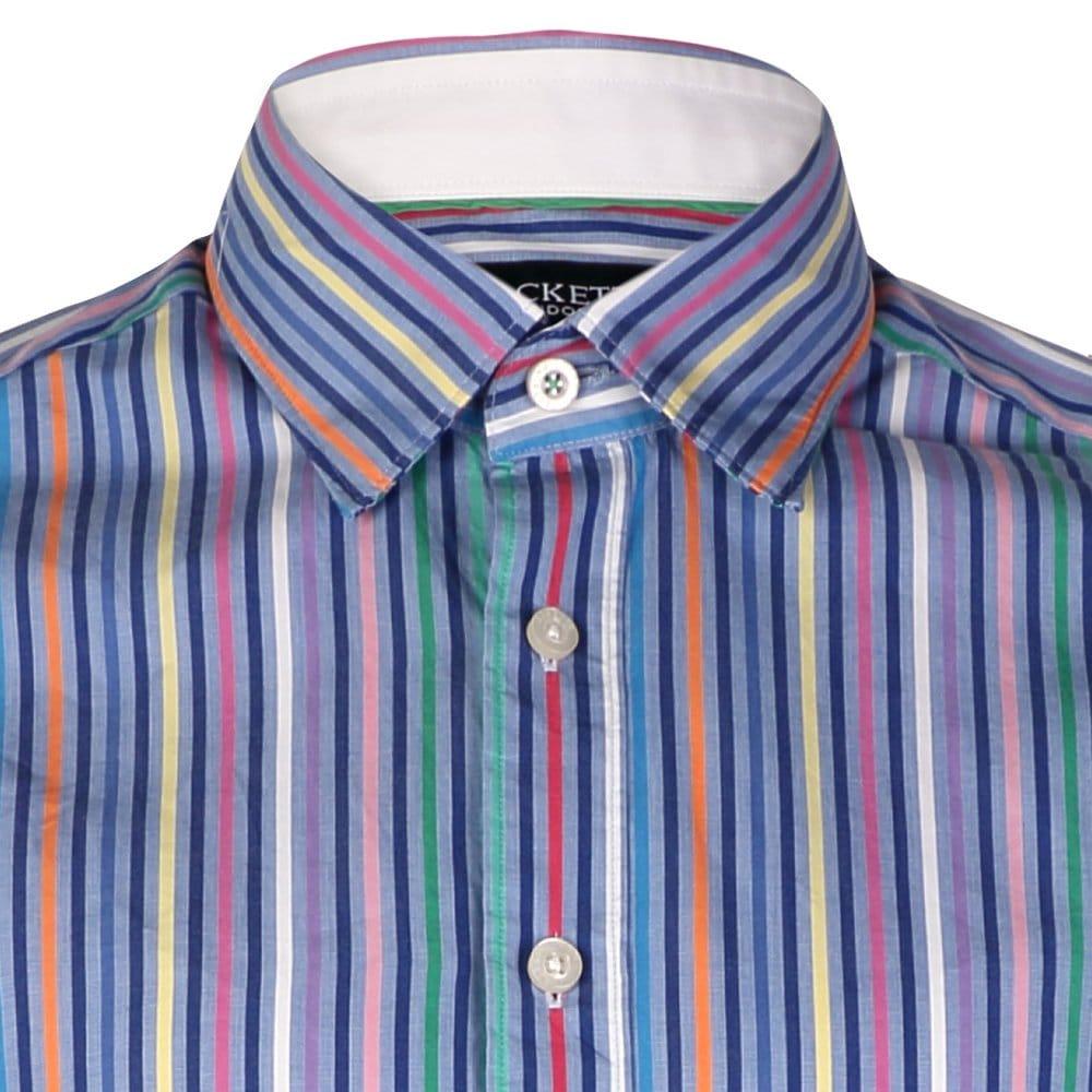 Hackett Bright Multi Coloured Stripe Mens Shirt - Mens from CHO ...