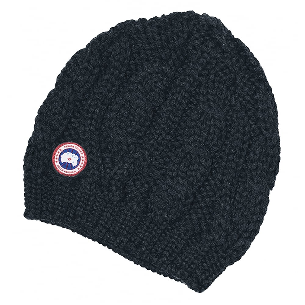 3bfc7e71a17 Canada Goose Chunky Cable Knit Ladies Beanie - Accessories from CHO Fashion  and Lifestyle UK