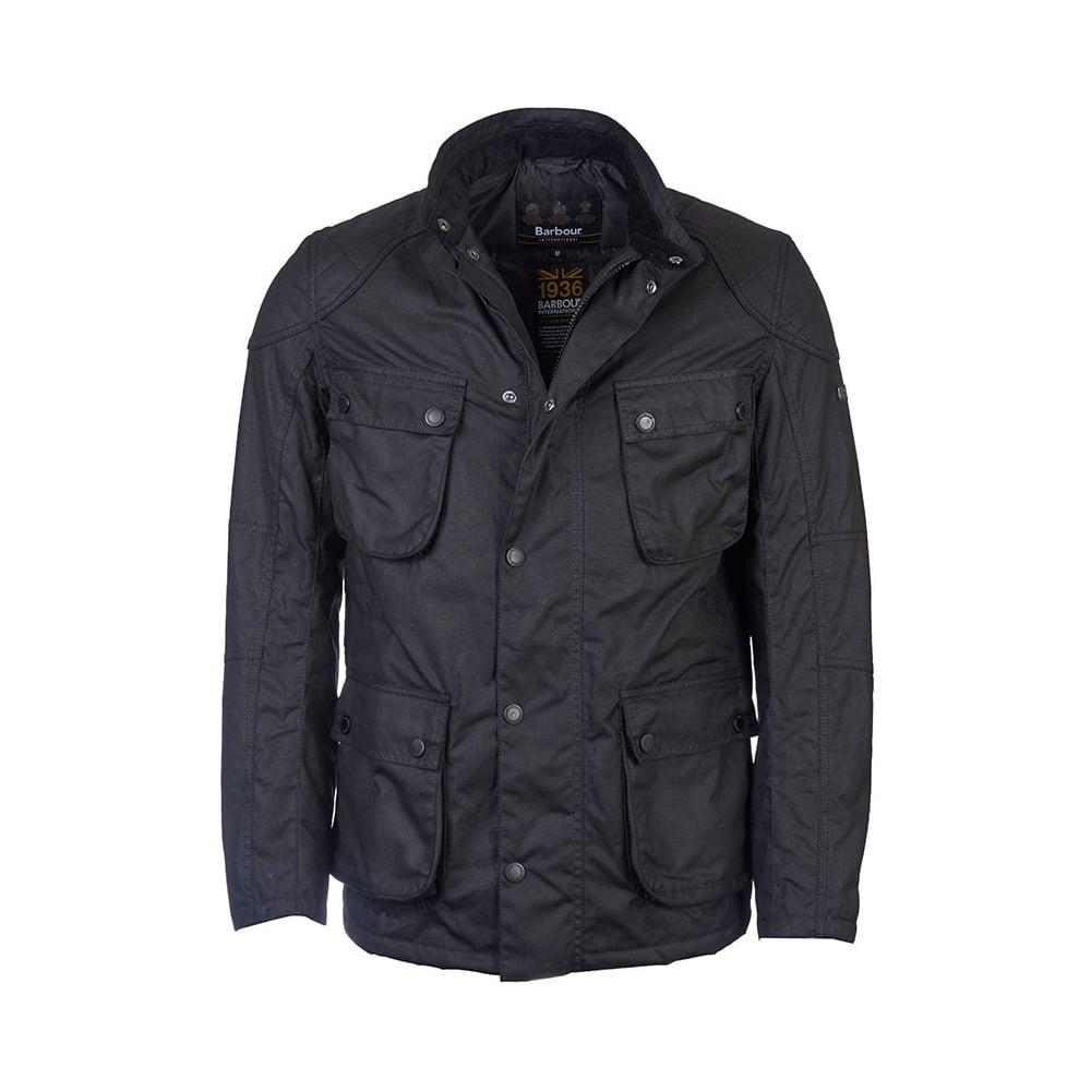 Barbour International Crank Mens Wax Jacket Mens From
