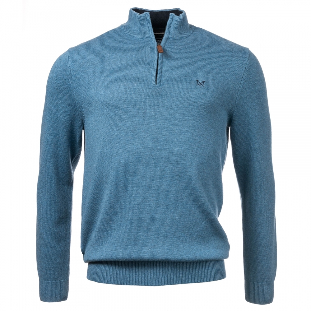 Crew Clothing Classic Half Zip Knitted Mens Sweater Mens From Cho