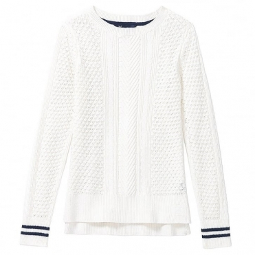 Crew Clothing Tipped Cable Womens Jumper