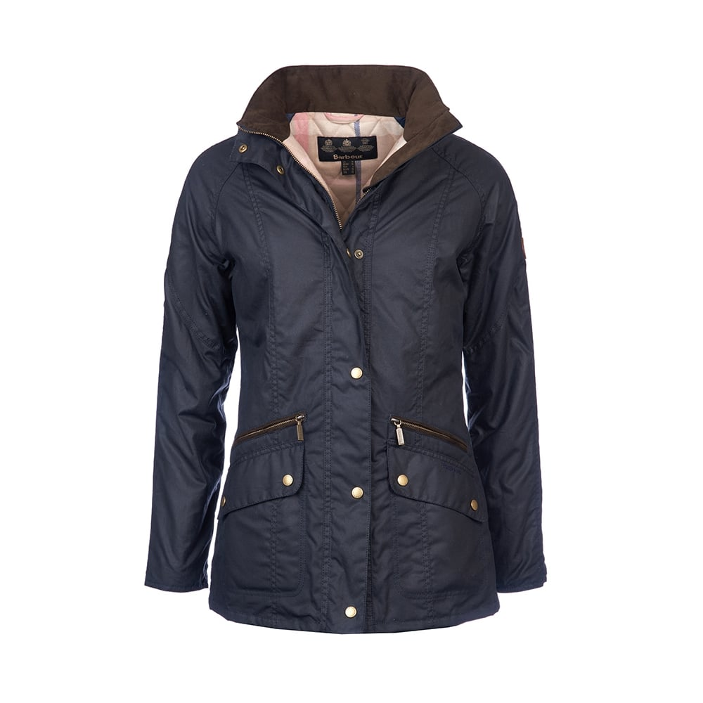 Barbour Crossrail Ladies Wax Jacket Womens From Cho