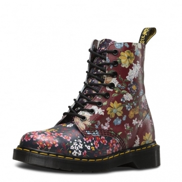 Dr Martens Core Print Pascal Womens 8 Eye Boot