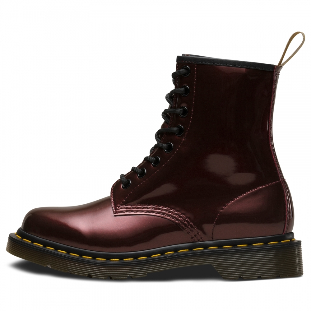 Dr Martens Womens 1460 Vegan Chrome Lace Up Boot - Womens from CHO ... a2725059f