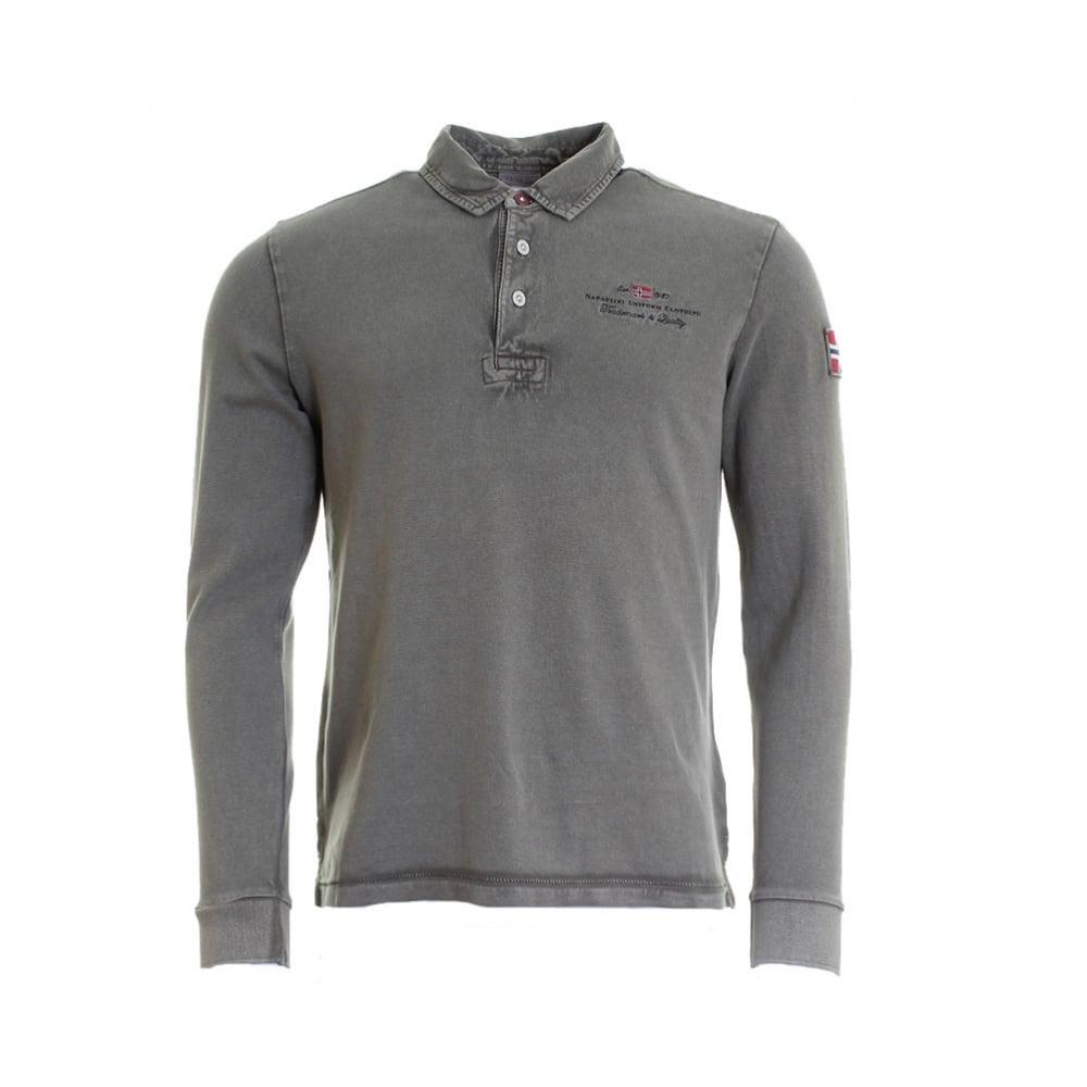 Napapijri Elbas Long Sleeve Mens Polo Shirt - Mens from ...