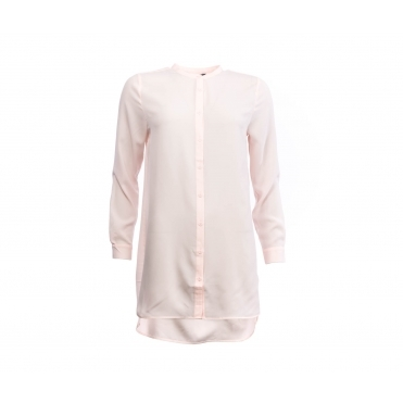 387fb7a286 French Connection Class Crepe Light Ls Collarless Shirt