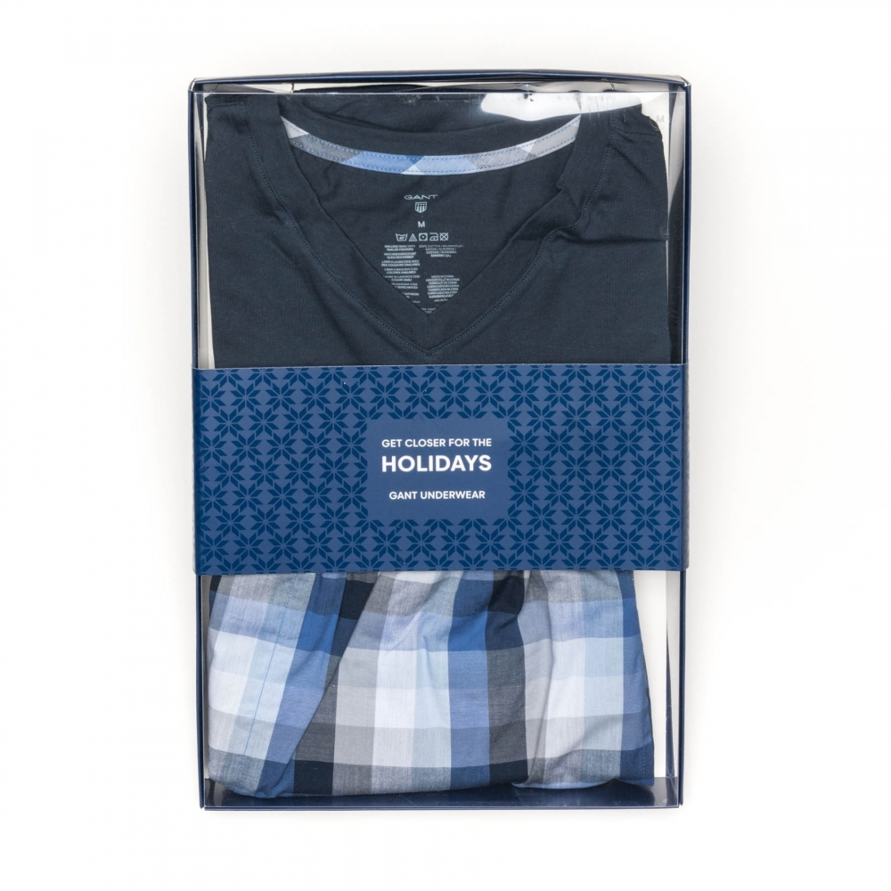 9b1ea35c41 GANT Blues Logo Mens Pajama Set Gift Box PreSS18 - Mens from CHO ...