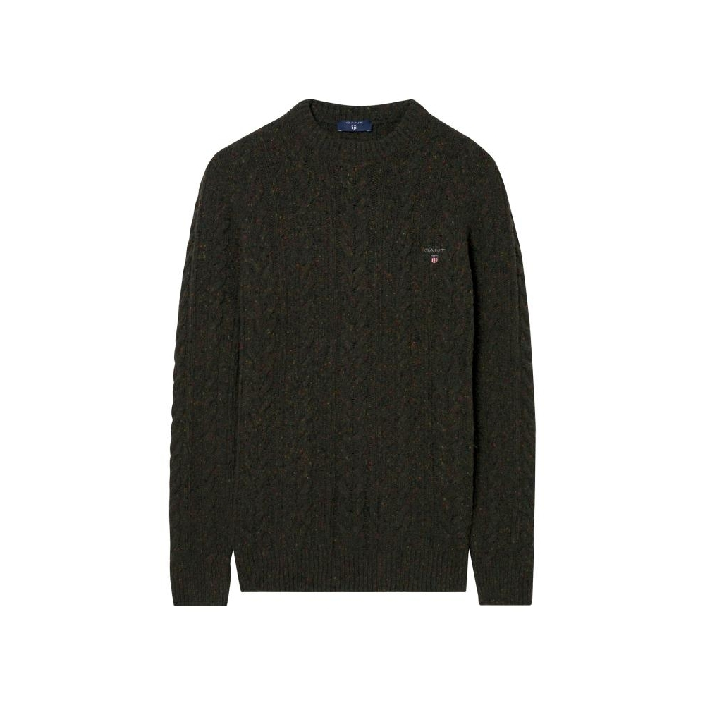 24570cd9932993 GANT Donegal Cable Crew Mens Sweater - Mens from CHO Fashion and ...
