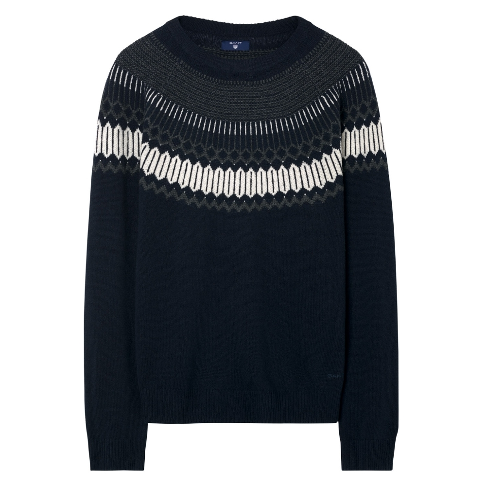 0e01e04bb GANT Fairisle Holiday Crew Neck Mens Jumper - Mens from CHO Fashion ...