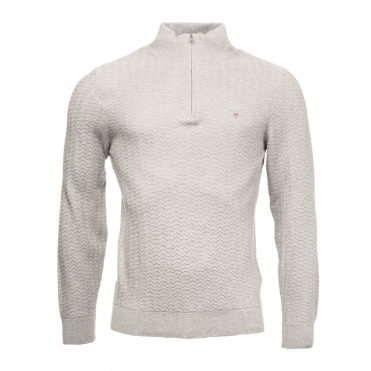 b0f80a1a1d9 GANT Herringbone Half Zip Mens Sweater