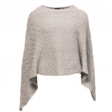 a27d43f0d08 GANT Lambswool Cable Womens Poncho