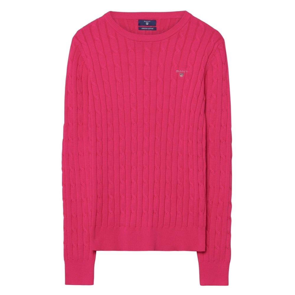 GANT Stretch Cotton Cable Crew Womens Sweater - Womens from CHO ... f7bd014d5e7f