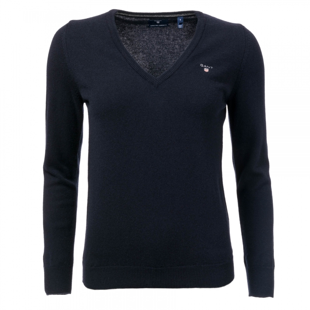 69a54981716 GANT Superfine Lambswool V-Neck Womens Jumper - Womens from CHO ...
