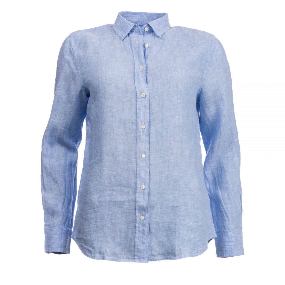 1844389f GANT The Linen Chambray Womens Shirt S/S 18 - Womens from CHO ...