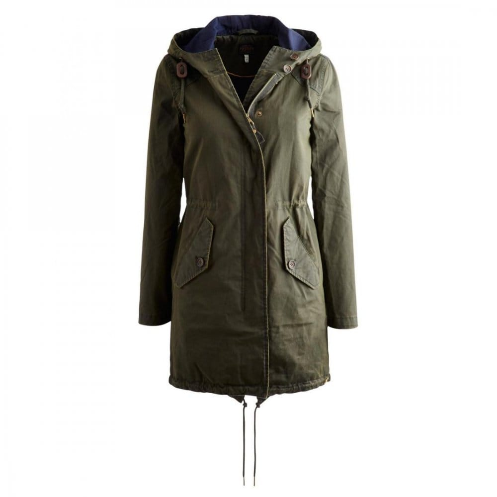 Joules Grasmoor Ladies Wax Parka Jacket (R) - Womens from CHO ...