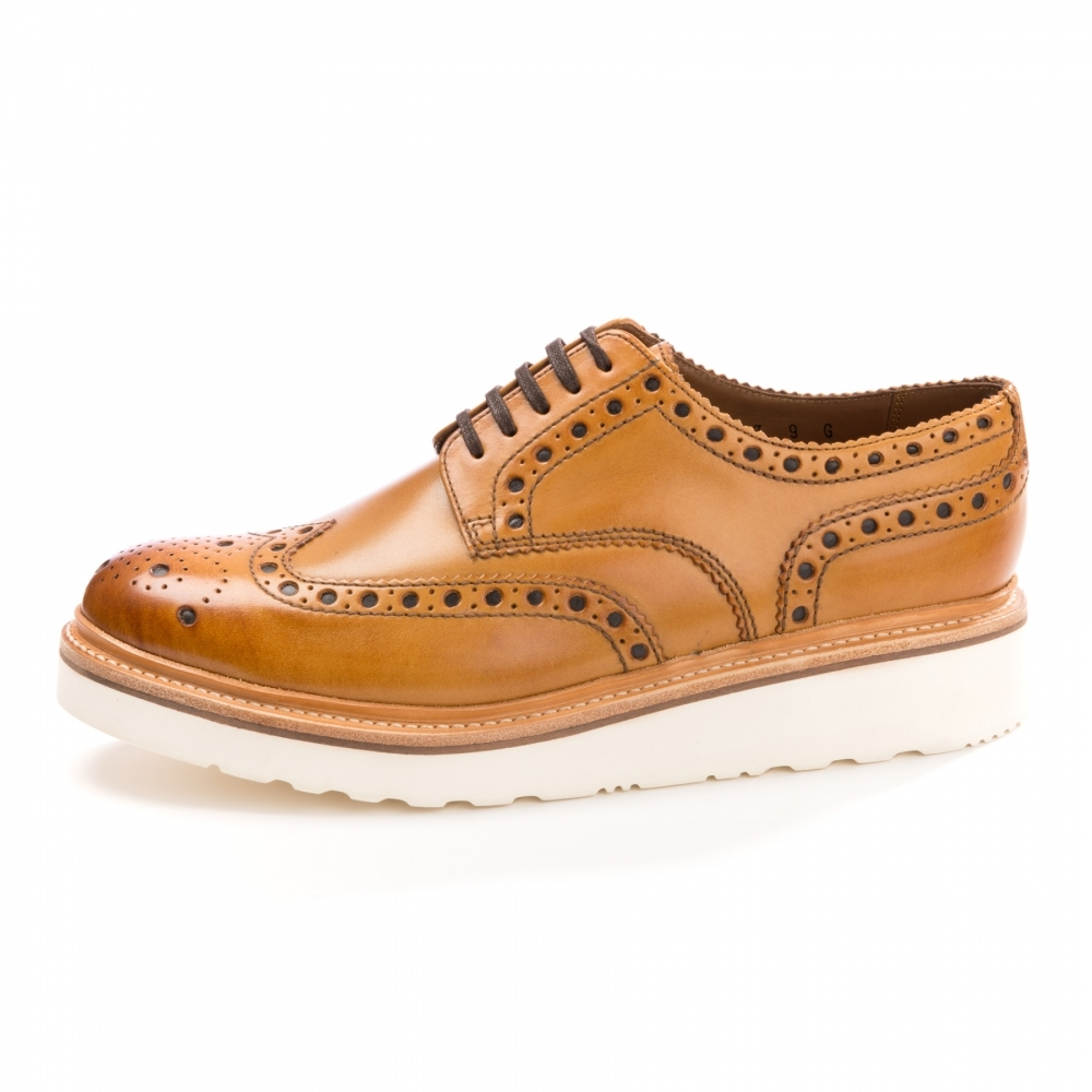 Grenson Archie Brogue Rubber Sole Tan Mens Shoe Tan UK8 EU42 US9 JMWLO