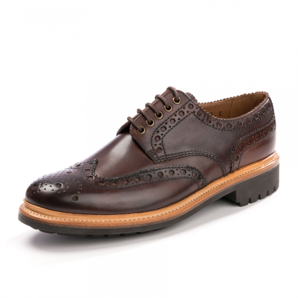 Archie brogues - Brown Grenson LU87mp