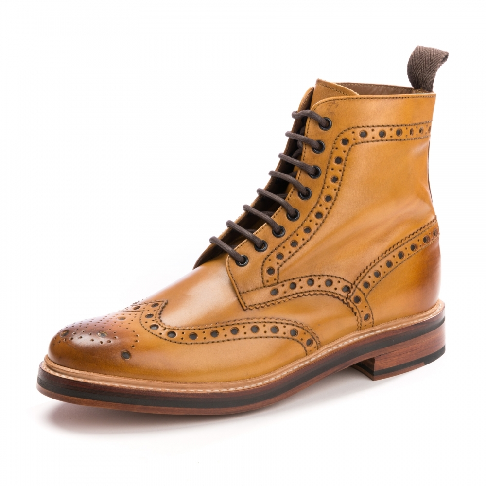 ad77b17d3a25a Grenson Fred Mens Tan Brogue - Footwear from CHO Fashion and ...