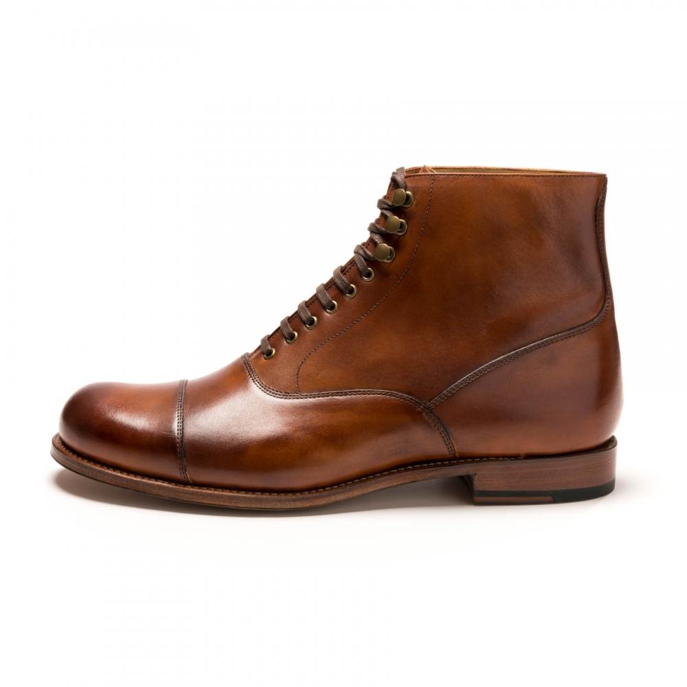 Grenson Leander Tan Hand Painted Mens Boot