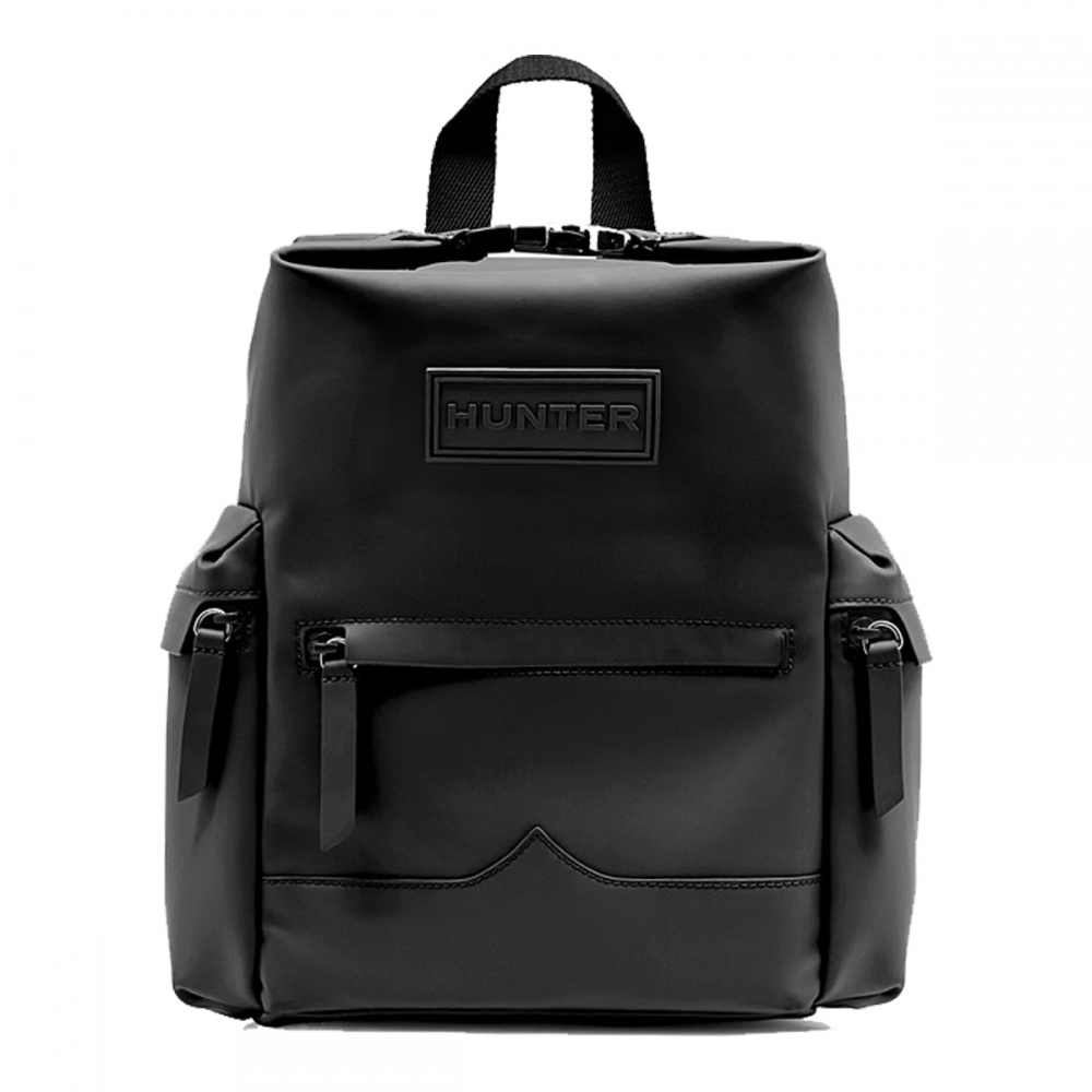 Hunter Original Mini Top Clip Backpack Rubberised Leather