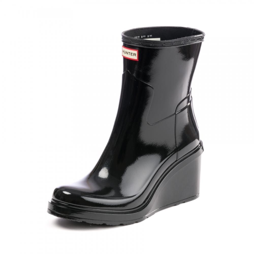 b3356e334a7c Hunter Original Refined Mid Wedge Gloss Womens Boot - Footwear from ...