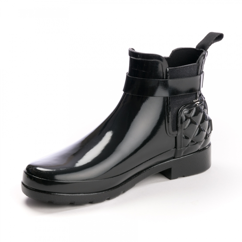 good nice shoes shopping Hunter Refined Gloss Quilted Womens Chelsea Boot - Footwear from ...