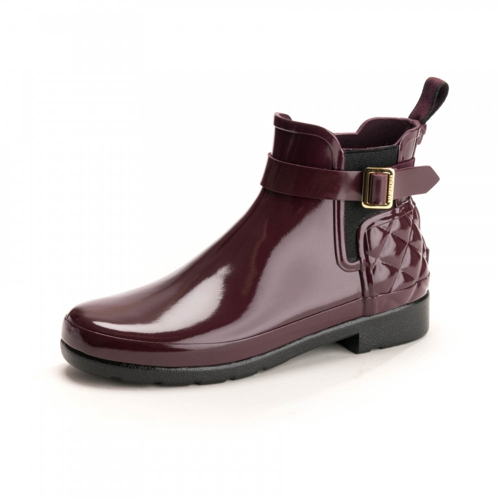 sale online outlet store best cheap Hunter Refined Gloss Quilted Womens Chelsea Boots - Womens from ...