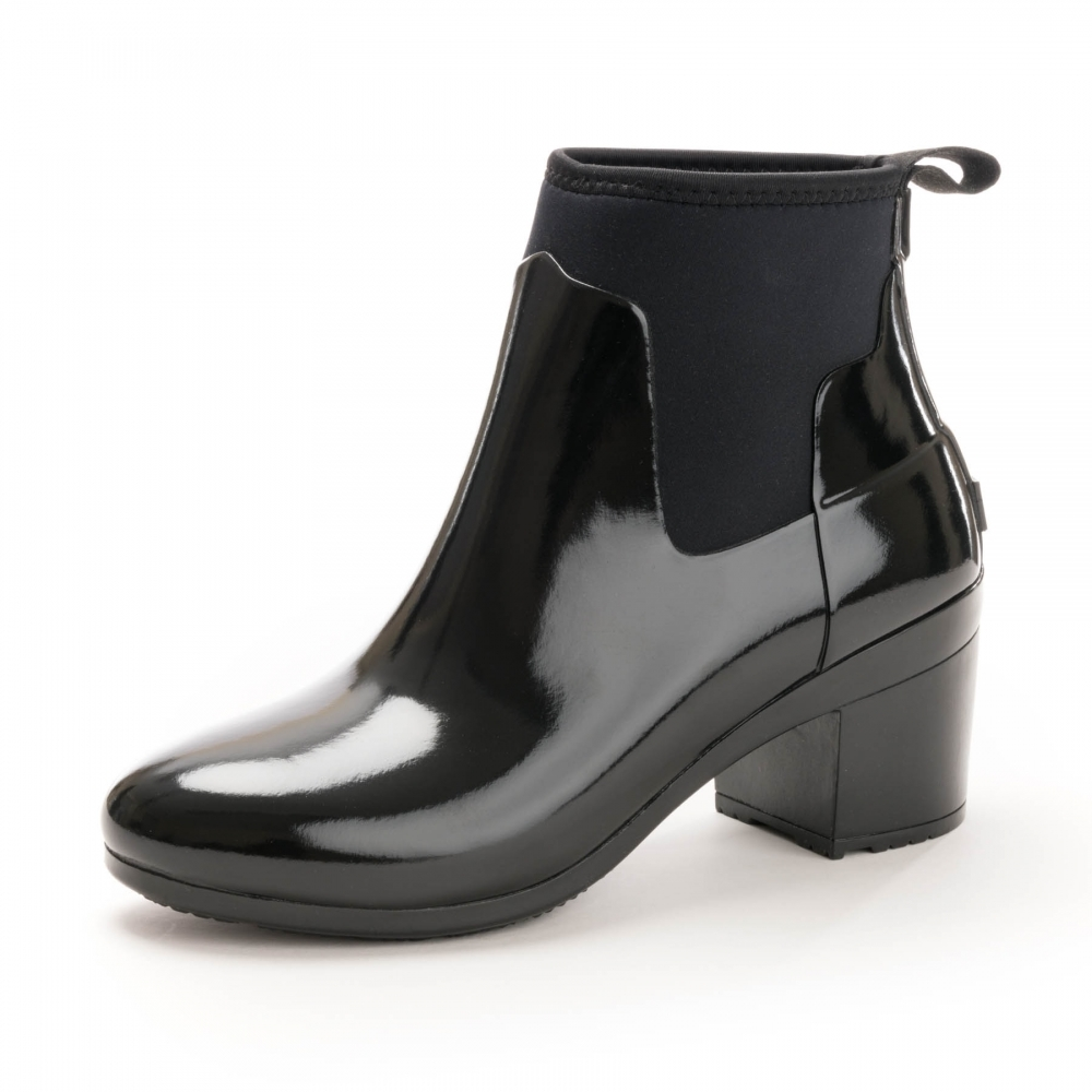 28193d7af80 Hunter Refined Mid Heel Gloss Womens Wellington - Womens from CHO ...