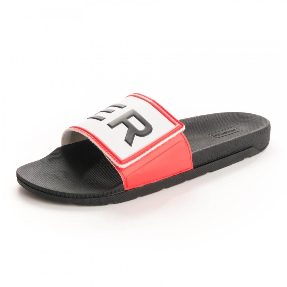 b347d9136f55a8 Hunter Womens Original Adjustable Logo Womens Sliders - Footwear ...