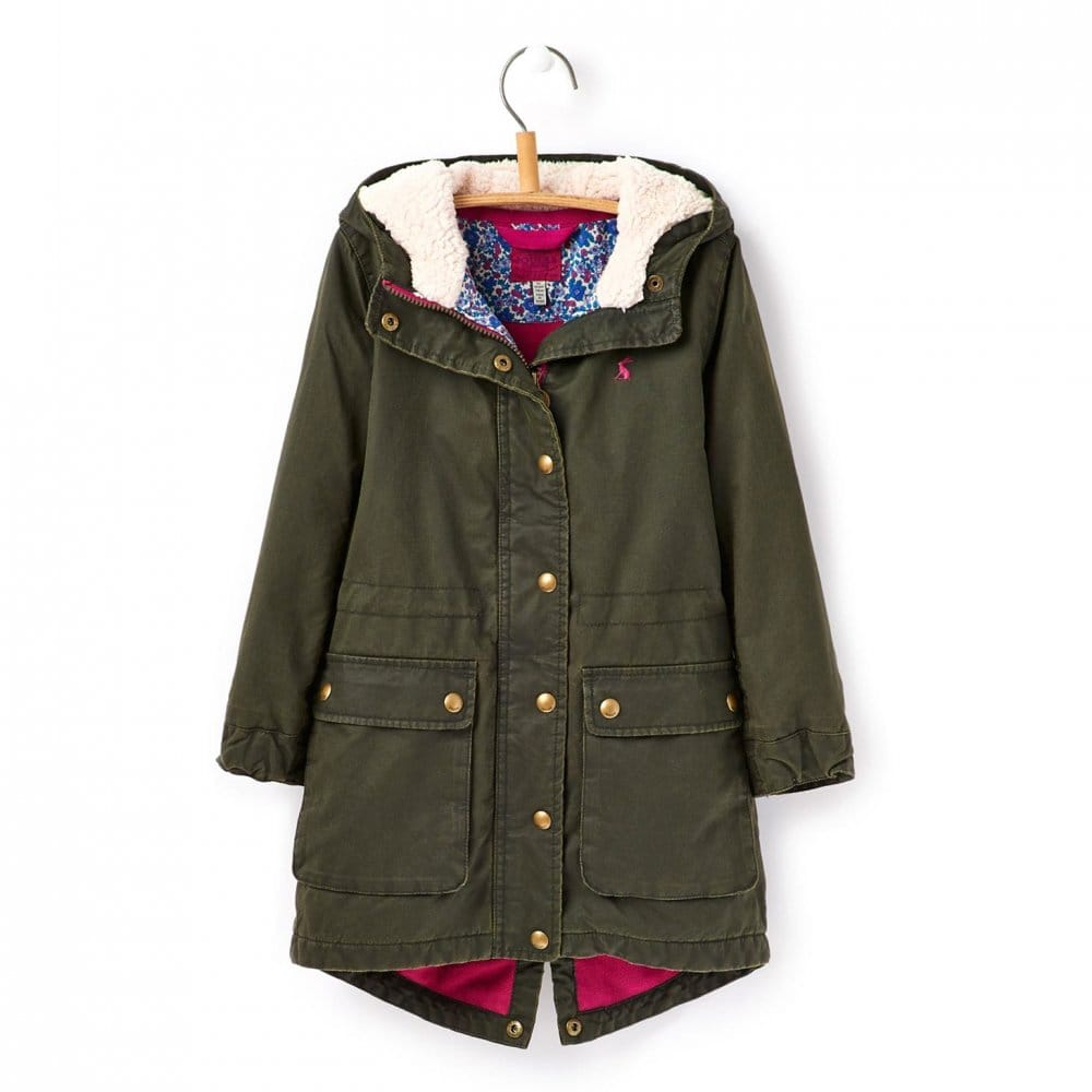 Joules Jnr Wynter Faux Wax Parka Jacket (T) - Accessories from CHO ...