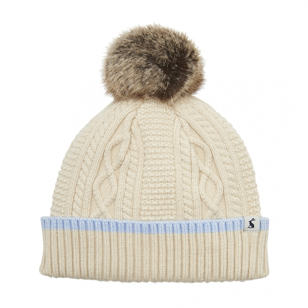 556dbb3ead7e20 Joules Anya Womens Bobble Hat S/S 19 - Mother's Day Gift Guide from ...