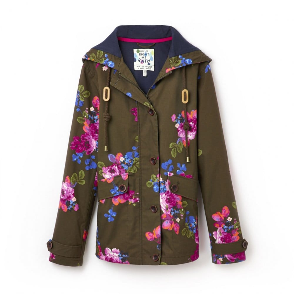 c52f7f2bb Joules Coast Ladies Floral Waterproof Hooded Jacket (T) - Womens ...