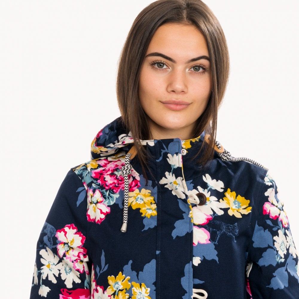 Joules Floral Navy Coast Printe Waterproof Jacket