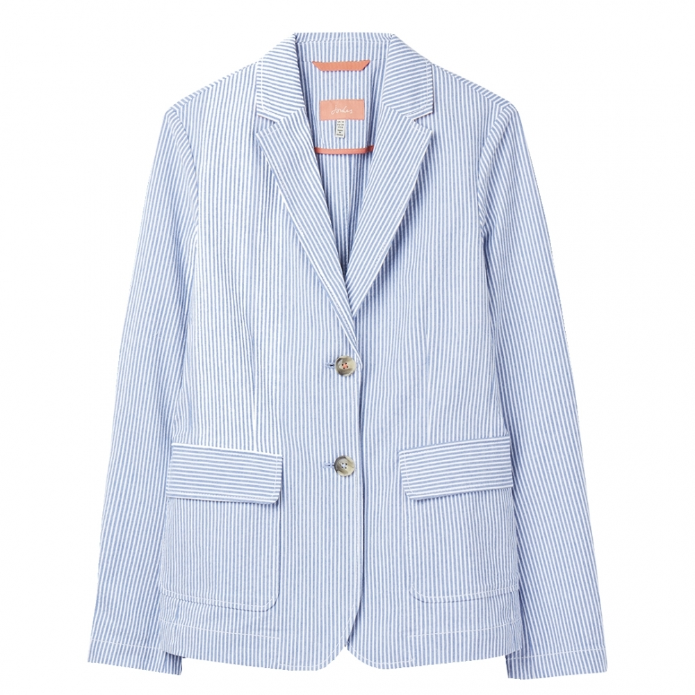 ec1bd6efd9aa Joules Erica Womens Cotton Blazer S/S 19 - Womens from CHO Fashion ...