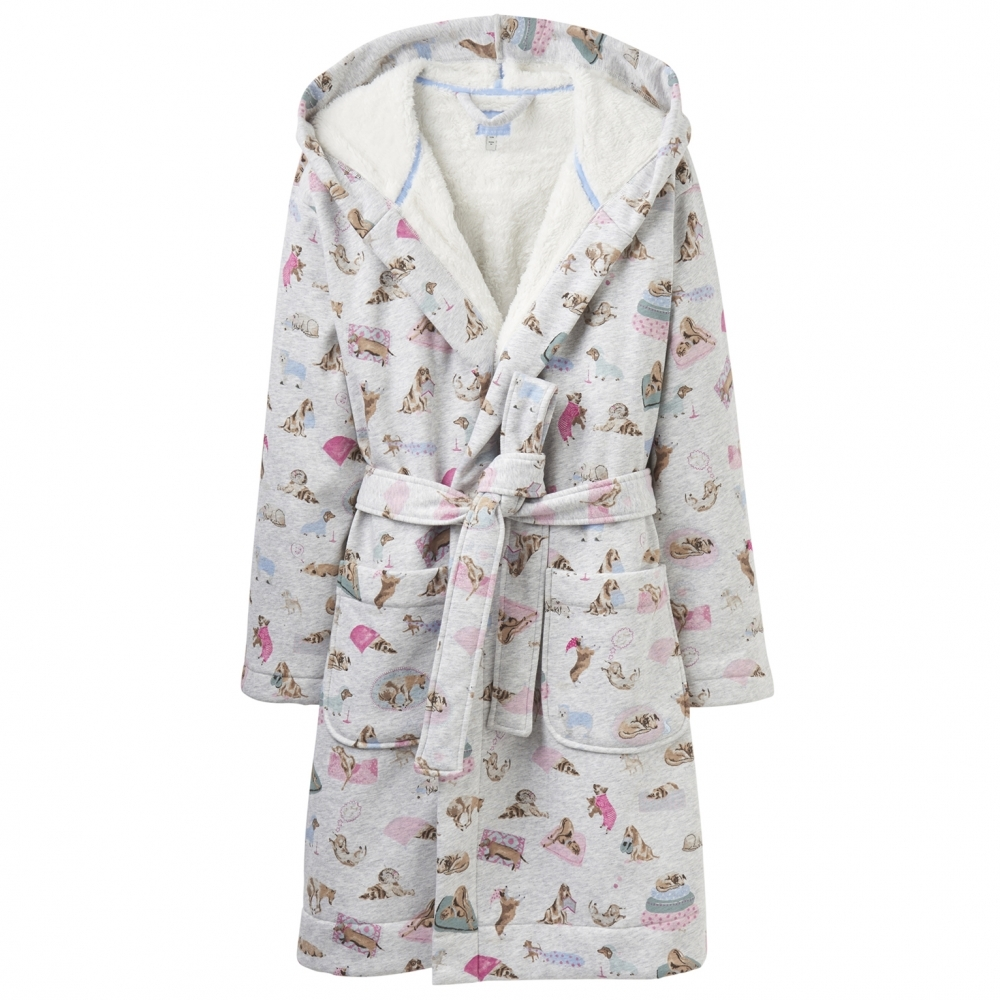 2aa923b73a Joules Idlewhile Printed Womens Jersey Dressing Gown (Z) - Womens ...